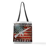 Deplorable Infidel Polyester Tote Bag