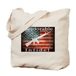 Deplorable Infidel Tote Bag
