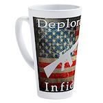 Deplorable Infidel 17 oz Latte Mug
