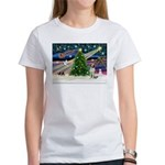 Xmas Magic / Brittany Spaniel Women's T-Shirt