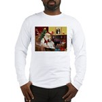 Santa & His Brittany Long Sleeve T-Shirt