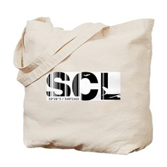 Santiago Airport Code Chile SCL Tote Bag