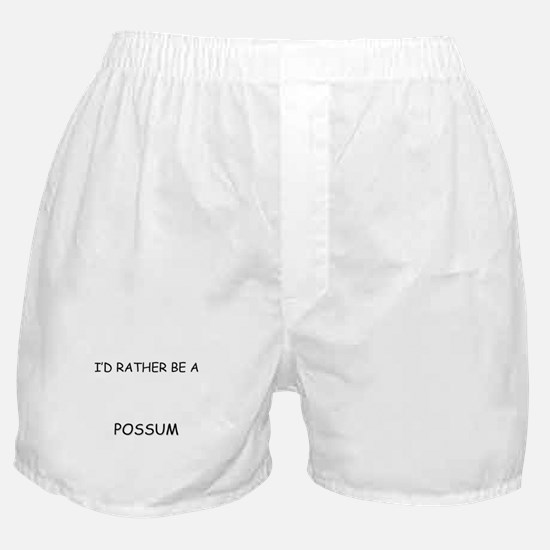 I'd Rather Be A Possum Boxer Shorts