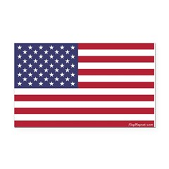 American Flag Rectangle Car Magnet -- 2 Sizes