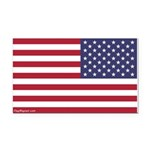 Reversed Flag Rectangle Car Magnet -- 2 Sizes