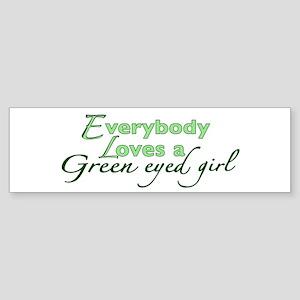 Green Eyed Girl Bumper Sticker