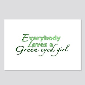 Green Eyed Girl Postcards (Package of 8)