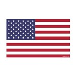 Movable American Flag 35x21 Wall Decal