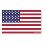 American Flag Bumper Sticker (rectangle) - 2 Sizes