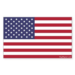 American Flag Bumper Sticker (rectangle) - 2 Sizes