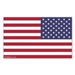 Reversed Usa Flag Sticker (rectangle)
