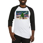 Xmas Magic & 5 Cairn Terriers Baseball Jersey