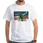 Xmas Magic & 5 Cairn Terriers White T-Shirt