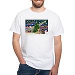 Xmas Magic & 2 Cairns White T-Shirt