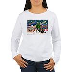 XMAS MAGIC / 3 Cavaliers Women's Long Sleeve T-Shi