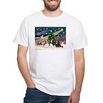 XMAS MAGIC / 3 Cavaliers White T-Shirt