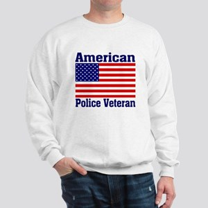 American Police Veterans Patriotic Flag Sweatshirt