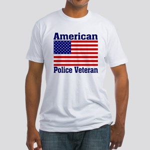 American Police Veterans Patriotic Flag Fitted T-S