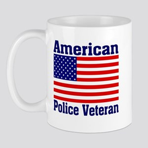 American Police Veterans Patriotic Flag Mug
