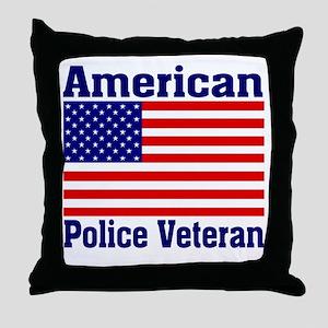 American Police Veterans Patriotic Flag Throw Pill