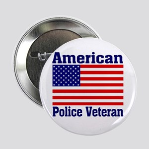 American Police Veterans Patriotic Flag Button