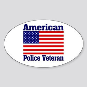 American Police Veterans Patriotic Flag Sticker (O