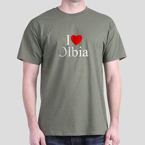 """I Love (Heart) Olbia"" Dark T-Shirt"