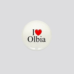 """I Love (Heart) Olbia"" Mini Button"