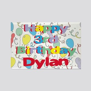 Dylan's 3rd Birthday Rectangle Magnet