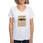 OK Corral Reward Women's V-Neck T-Shirt