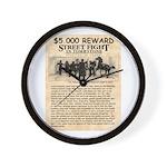 OK Corral Reward Wall Clock
