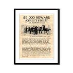 OK Corral Reward Framed Panel Print