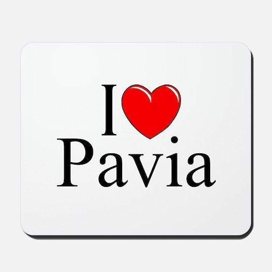 """I Love (Heart) Pavia"" Mousepad"