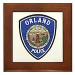 Orland Police Framed Tile