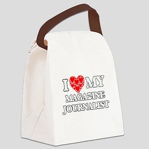 I Love my Magazine Journalist Canvas Lunch Bag