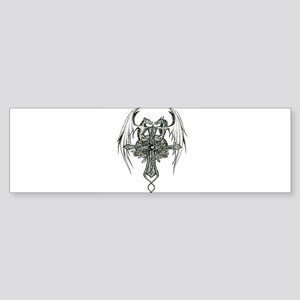 Dragon Cross Bumper Sticker