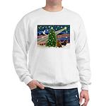 XmasMagic/2 Dachshunds (P2) Sweatshirt