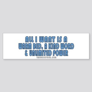 Unlimited Power Bumper Sticker