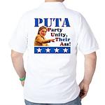 PUTA (not PUMA) Hillary Clinton Golf Shirt