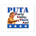 PUTA (not PUMA) Hillary Clinton Small Poster