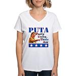 PUTA (not PUMA) Hillary Clinton Women's V-Neck T-S