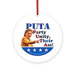 PUTA (not PUMA) Hillary Clinton Ornament (Round)