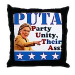 PUTA (not PUMA) Hillary Clinton Throw Pillow