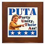 PUTA (not PUMA) Hillary Clinton Framed Tile