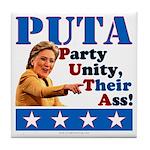 PUTA (not PUMA) Hillary Clinton Tile Coaster