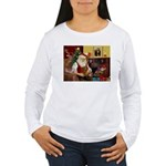 Santa's Dachshund (Br) Women's Long Sleeve T-Shirt
