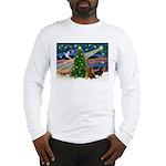 XmasMagic/2 Dachshunds (P2) Long Sleeve T-Shirt