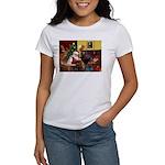 Santa/Two Dachshunds (BB) Women's T-Shirt