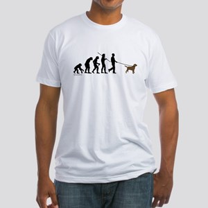 Chocolate Lab Evolution Fitted T-Shirt