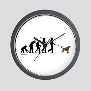 Chocolate Lab Evolution Wall Clock